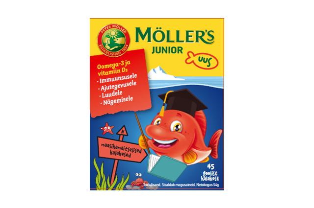 Möller`s JUNIOR maasikamaitselised geelkalakesed N45
