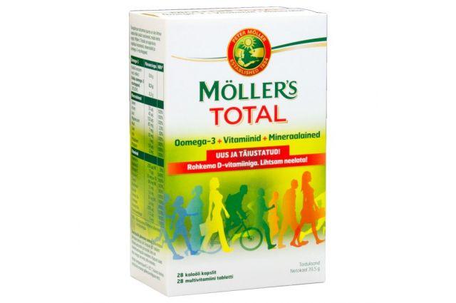 Möller`s Total kalaõli kapslid vitamiinide ja mineraalidega N56
