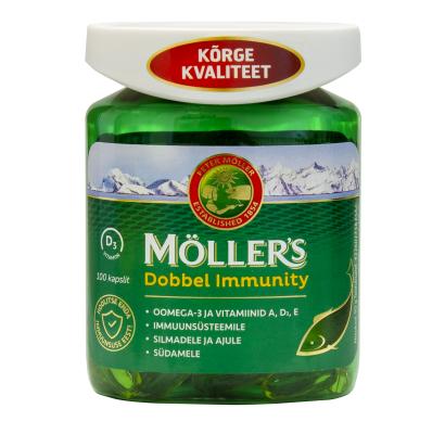Möller's Dobbel Immunity  kapslid N100