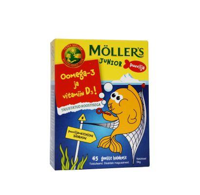 Möller`s Junior puuviljamaitselised geelkalakesed N45